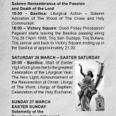 YOUR GUIDE FOR HOLY WEEK AND EASTER 2016 IN XAGĦRA