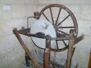 07 - a honing stone used to sharpen tools with blades