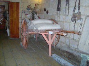 11 - The cart loaded with sacks of grain